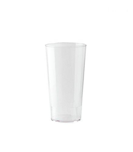10er Set WACA® Mehrwegbecher 0,4 l aus PP, unzerbrechlich, milchig transparent