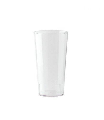 10er Set WACA® Mehrwegbecher 0,5 l aus PP, unzerbrechlich, milchig transparent
