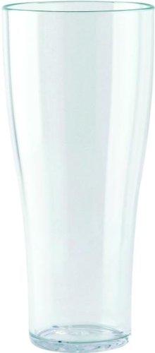 WACA® Weißbierbecher 0,5l aus glasklarem SAN, stapelbar mit Füllstrich