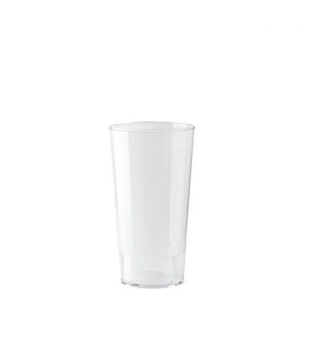 10er Set WACA® Mehrwegbecher 0,2 l aus PP, unzerbrechlich, milchig transparent