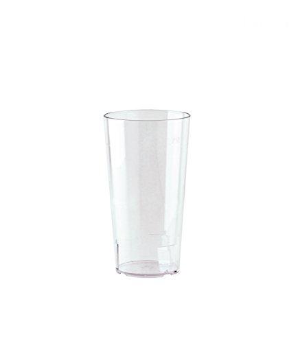 10er Set WACA® Mehrwegbecher 0,25 l aus SAN, bruchunempfindlich, glasklar