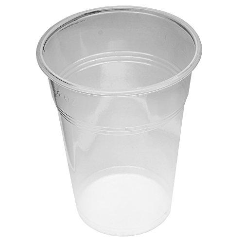 800 Stück Trinkbecher Becher 0,5 l transparent 500 ml mit Schaumrand Ausschankbecher Bierbecher Einwegbecher Partybecher