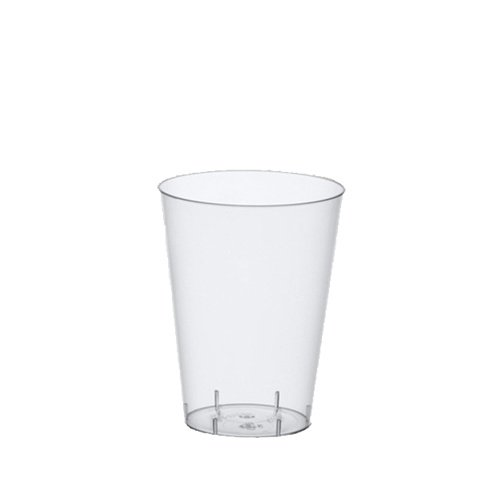Papstar Trinkbecher / Plastikbecher (50 Stück) 0,2 l, Ø 7.5 x 9.7 cm, glasklar, transparent, aus Polystyrol