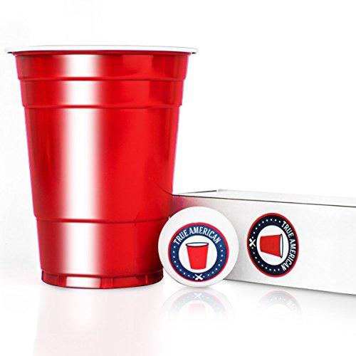 100 Original USA Red Cups + 6 Bälle + Spieleanleitung