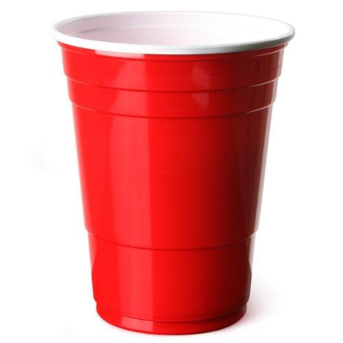 Trinkbecher rot, amerikanische Beer Pong PartyBecher, 16 Unzen 455ml – 50er Pack