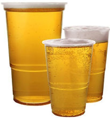 50x klare starke Kunststoff Bierbecher (500ml)